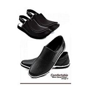 Fatima Lootsale Pack Of Two Canvas Shoes With Peshawari Sandal - Black