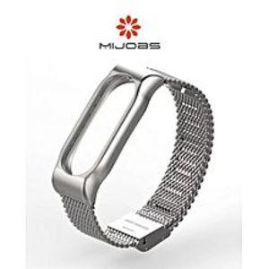 MIJOBSPremium Metal Strap For Mi Band 2 (Ultra Mesh Design)