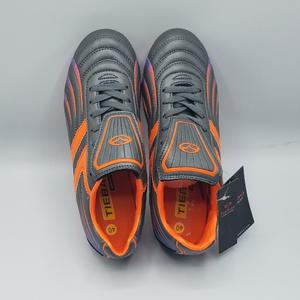Tiebao Football Shoes For Men - Grey/Orange - Strong Football Shoes For Men