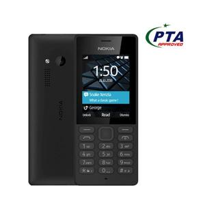 Product details of nokia 150 - Dual Sim - Camera - Card Slot - black Dual Sim Camera Memory card Supported Video Player Games Long lasting battery BuildDimensions118 x 50.2 x 13.5 mm Weight81 g SIMMini-SIM ColorsBlack, White Frequency2G BandGS