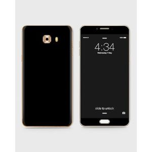 Samsung Galaxy C5 Pro Skin Wrap in Black color -1Wall23