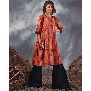 Orange Fire 1pc Unstitched Shirt Winter Collection