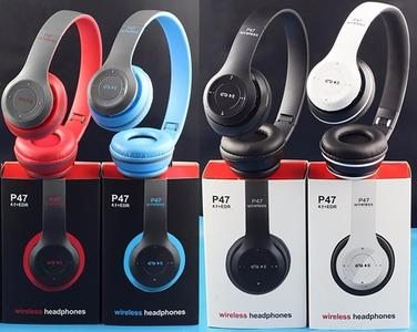 Professional Stereo P47 Wireless Bluetooth Headphones For Gaming - Black White Red Blue green Colors
