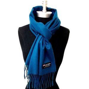 Blue Wool Muffler For Men