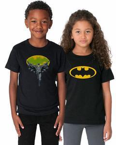 Pack of 2 Batman Kids T-Shirt Combo