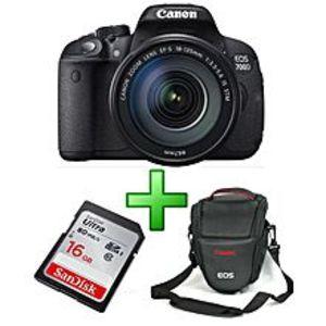 CANONEOS 700D - 18MP - DSLR Camera - Black - With 18-55mm Lens, 16GB Card & Bag
