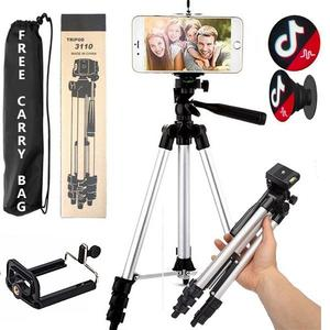 Pack Of 4 Professional Portable Mobile Phone & Dslr Tripod Stand With 3-Way Head Tripod.