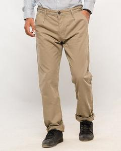 Brown Cotton Skinny Fit Chino for Men