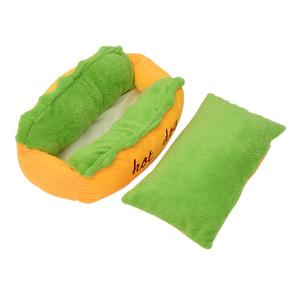 lala Hot Dog Shaped Bed Pet Sofa Soft Cushion Cozy Nest Kennel Supplies