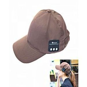 Dukan Online ShoppingWireless Music Stereo Sun Hat with Hands-free Microphone - Brown