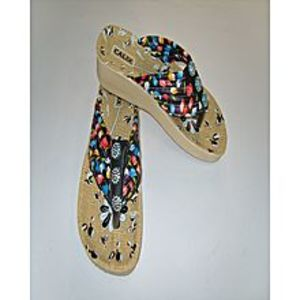 Modern Footwear Multi Colour Synthetic Rexine Casual Flip Flops For Women