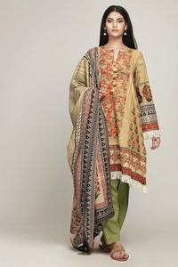 Khaadi Lawn Embroidered Replica Un-Stitched Dress for Women