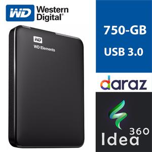 750 GB External Hard Disk Portable 750GB WD Element Hard Drive USB 3.0