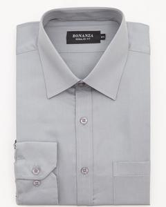 Bonanza Satrangi - Gray Pc Men's Smart Shirt - 11PS2NQ320-16.5