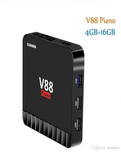 Android Smart TV Box V88 Piano Quad Core 4GB+16GB