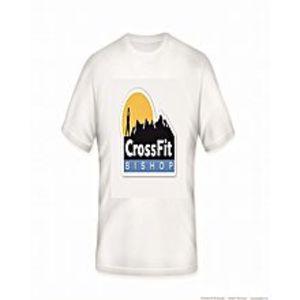 JAJJA ProductionCrossfit Printed Dry Fit White T-Shirt
