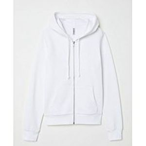 A&GHooded Sweatshirt Jacket- White