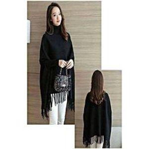 KA CollectionKA Collection Stylish Black Poncho For Her