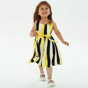 Toddler Kids Baby Girl Clothes Printing Sleeveless Sashes Dress Princess Dresses