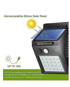 Led Solar Powered Security Wall Light