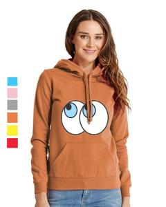 Rex Bazar - Orange Eyes Printed Hoodie For Women