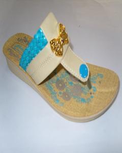 Cream Flip Flops Pu Sole For Women