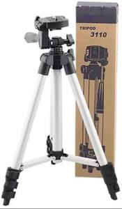 3110 / 3120 - Tripod Stand For Camera And Mobile - Black & Silver