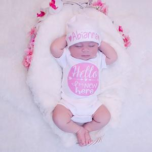 Stonershop Toddler Newborn Baby Arrow Color RoundLetter Rompers Jumpsuit Outfits Clothes