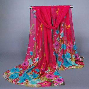 Women's Ladies Chiffon Soft Scarves Long Wraps Shawl Beach Silk Scarf