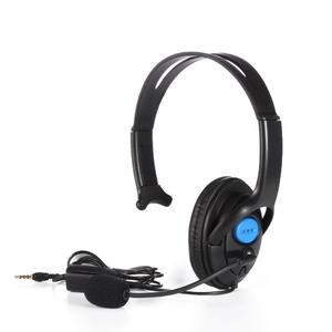 3.5mm Wired Gaming Headset Single Side Speaker Headphones with Mic For PS4
