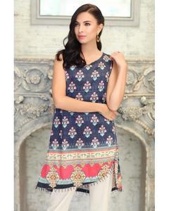 So Kamal Winter Collection  Black Cotton Satin Printed 1PC -Unstitched Shirt DPF18 491 EF01160-STD-BLK