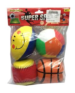 Stuffed Sports Toys Pack of 3 - Multicolour