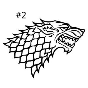 Game of Thrones Decal For Car Window Wall Wolf Sticker Living Room Bedroom Decor