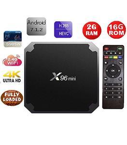 Smart Android Tv Box - X96 Mini - Ram 2Gb -Rom 16Gb - Black