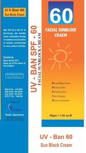 Facial Sunblock Cream (UV-BAN SPF-60)