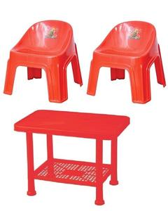 Baby Table & 2 Chairs Plastic Set