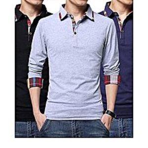 bkshopPack Of 3 Checkered Polo Shirts