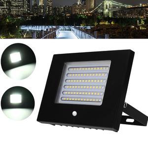 ARILUX AC180-240V 10W/30W/50W White / Warm White Light Black Shell Led PIR Motion Sensor Flood Light IP65