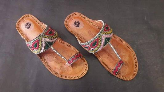 Brown Leather Slippers For Women