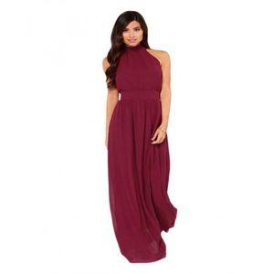 Lovers Dress Modern Duchess Burgundy Jersey Maxi Dress