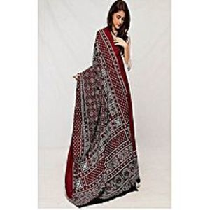 Ayaan chase martMulticolor Ajrak Cotton Polyester Shawl For Women