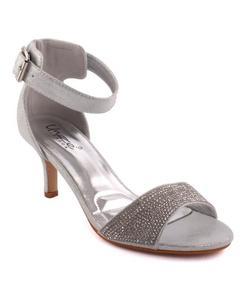 Silver Women 'Shelton' Decorated Evening Stiletto Sandals L28739