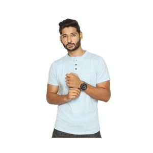 Ice Blue Jersey Printed T-Shirt for Men