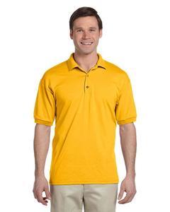 Yellow Mix Cotton Polo Shirt For Men