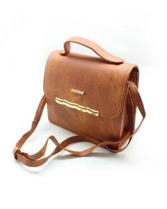 Ladies Rexine Bag With Long Shoulder Strap - BG116