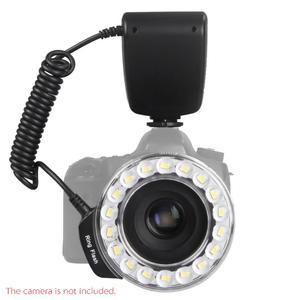 Macro 18PCS LED Ring Flash Light RF600D Speedlite for Nikon Canon Olympus Panasonic DSLR Cameras