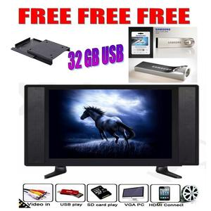 CINN LCD Tv 17 Inch HD LED TV + 32 GB USB + Wall Bracket