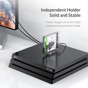 """ORICO 2.5"""" HDD Case SATA to USB 3.1 C Hard Drive Enclosure with Stand for SSD Disk HDD Box Transparent External Enclosure Case"""