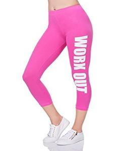 Pink Workout Printed Gym Tight