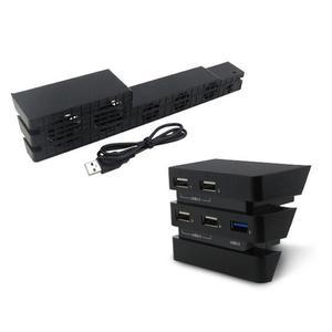 TE Ps4 Pro Fan + Hub Set Ps4Pro Cooling Temperature Control Converter